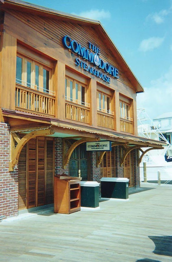 Commodore Waterfront Restaurant Antique Cypress Entrance