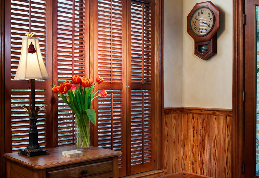 antique cypress plantation shutters
